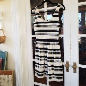 J. Crew - Button Back Dress in Stripe